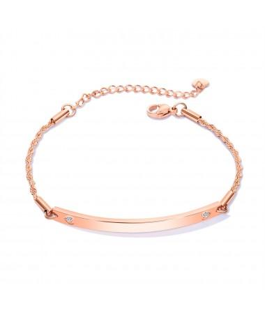 Bracelet Chaine 2 Coeurs