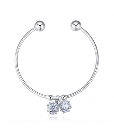 Bracelet Jonc Cristal Cube