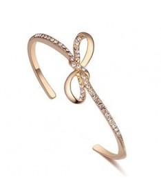Bracelet Jonc Cristal Infini Noeud