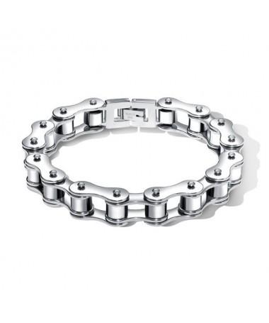 Bracelet Titane Chaine Moto Argent