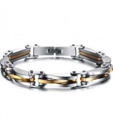 Bracelet Titane Argent Or