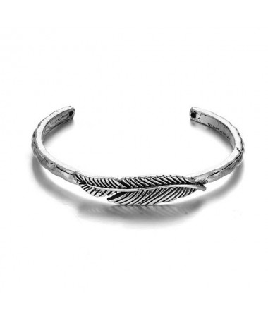 Bracelet Jonc Plume