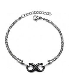 Bracelet Infini Double Chaine