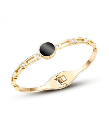 Bracelet Jonc Chaine Rond Noir