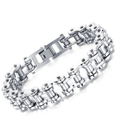 Bracelet Acier Titane Chaine Moto