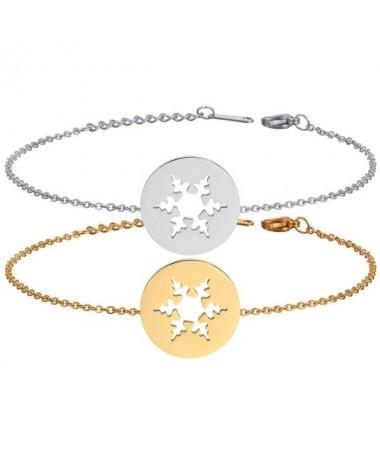 Bracelet Chaine Flocon Neige
