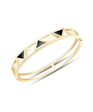 Bracelet Jonc Titane Triangles