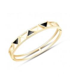 Bracelet Jonc Titane Triangles
