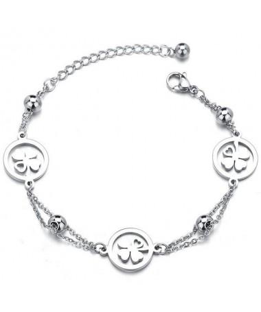 Bracelet Chaine Trèfle de Coeurs