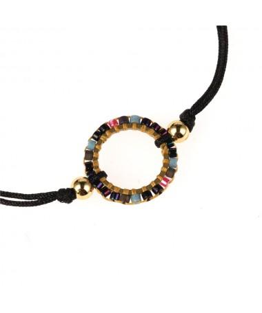 Bracelet Cristal Cordon Bolso Cesta Cercle