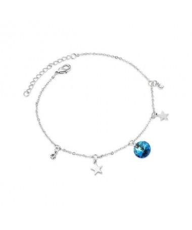 Bracelet Chaine Etoile Gemme