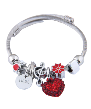 Bracelet Charms Coeur