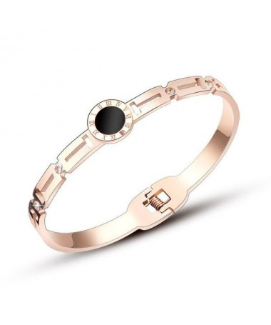 Bracelet Jonc Cadran Noir