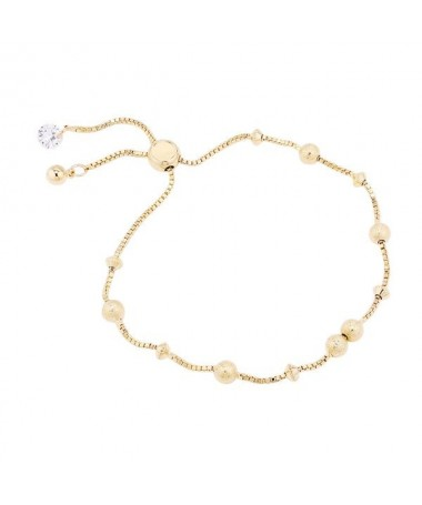 Bracelet Chaine Perles Brillantes