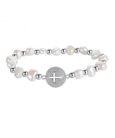 Bracelet Perles et Croix