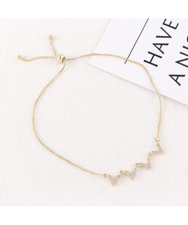Bracelet Chaine Double W