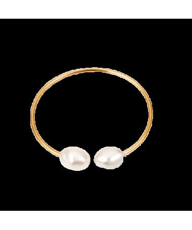 Bracelet Jonc 2 Perles