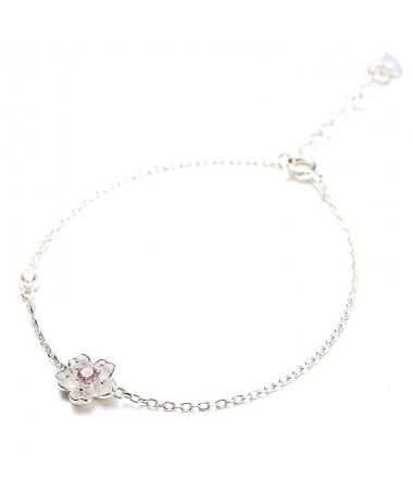Bracelet Fleur Cerise
