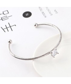 Bracelet Jonc Cube Cristal