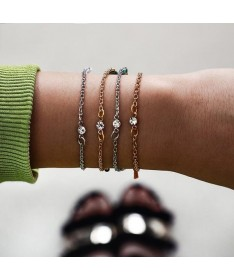 Bracelet Mi-Chaine Mi-Cordon Ensemble 4 pièces