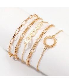 Bracelet Chaine Etta Ensemble 5 pièces