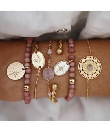 Bracelet Chaine Lupe Ensemble 5 pièces