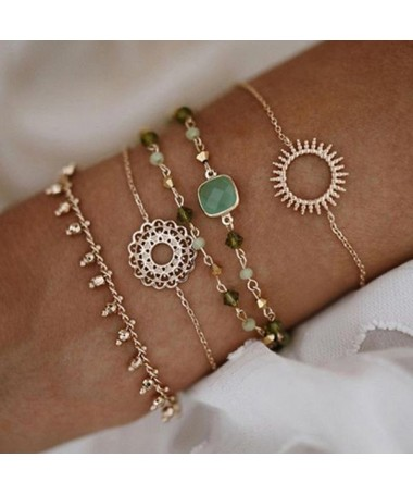 Bracelet Chaine Nora Ensemble 5 pièces