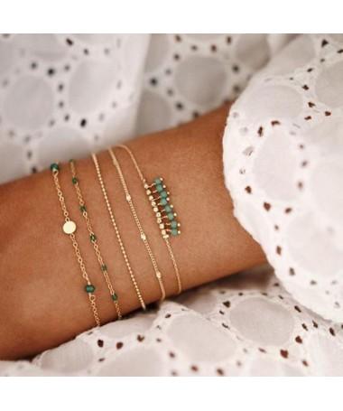 Bracelet Chaine Eunice Ensemble 5 pièces