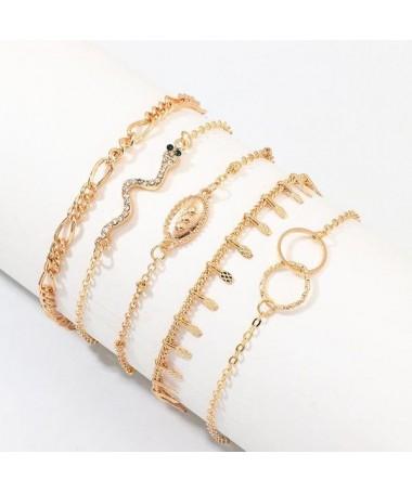 Bracelet Chaine Beryl Ensemble 5 pièces