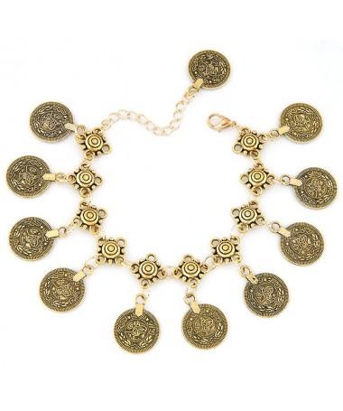 Bracelet Chaine Pièces Vintage