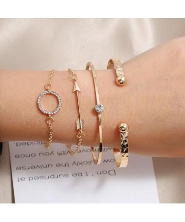 Bracelet Chaine Cercle Fleche