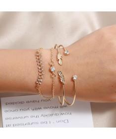 Bracelet Chaine Plume Fishbone