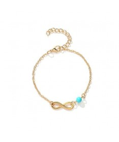 Bracelet Infini Perle Turquoise