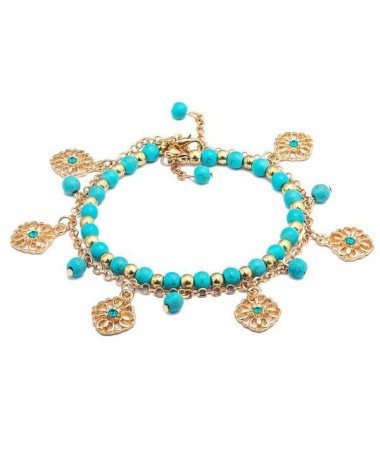 Bracelet Perle Chaine Fleurs