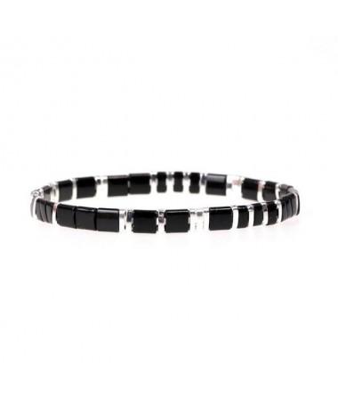 Bracelet Miyuki Noir et Blanc