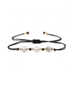 Bracelet Cordon 3 Perles