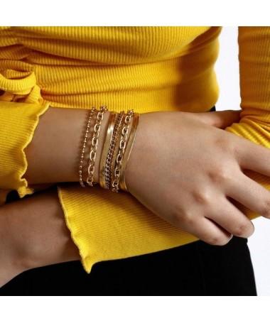 Bracelet Chaine Marci Ensemble 7 pièces