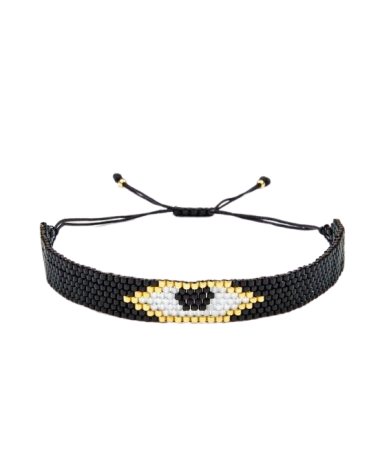 Bracelet Miyuki Black Stain